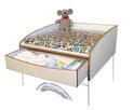 Wickelaufsatz Waschmaschine mit Schublade