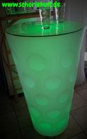 Stehtisch LED, Dubbeglas, Schoppeglas, Tisch, leuchtet, Farbwechsel