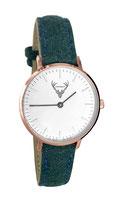rosé Uhr mit grünem Filzband Tracht
