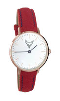 rosé Uhr mit rotem Filzband Tracht