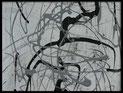 Schriftkunst abstrakt Detail