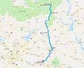 Route - 148 Meilen (Goggle Maps)