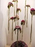 hängende Rosen aus Filz