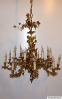 Riesiger Florentiner Deckenleuchter, Messing, vergoldet, 18-Armig , € 2800,00