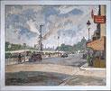 Pariser Strassenszene von 1938