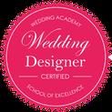 Label certification wedding designer pour l'agence d'organisation et de décoration de mariage Daydream Events