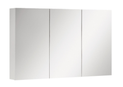 1200x750mm Full Mirror Shaving Mirrored PVC Waterproof Cabinet fully painted white 2 pk & mix of PVC/glass shelves