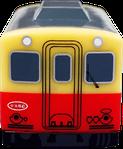プルバックカー ストラップ/キーホルダー 電車型 正面