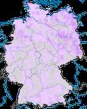Karte zum Vorkommen des Bruchwasserläufers (Tringa glareola) in Deutschland während des Durchzuges.