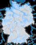 Karte zur Verbreitung der Pfeifente (Mareca penelope) im Winter