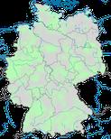 Karte zur Verbreitung der Brautente (Aix spons) in Deutschland im Jahresverlauf.