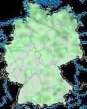 Karte zur Verbreitung der Schnatterente (Mareca strepera) in Deutschland im Jahresverlauf.