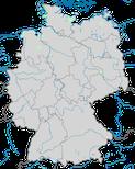 Karte zur Verbreitung der Pfeifente (Mareca penelope) zur Brutzeit in Deutschland.