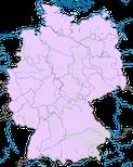 Karte zur Verbreitung des Fischadlers (Pandion haliaetu) in Deutschland während des Zuges