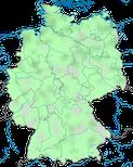 Karte zum Vorkommen der Bekassine (Gallinago gallinago) in Deutschland im Jahresverlauf.