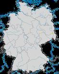 Karte zur Verbreitung der Steppenmöwe (Larus cachinnans) in Deutschland - Brutgebiete.