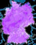 Karte zum Zugverhaltend des Grauen Kranichs (Grus grus) in Deutschland.