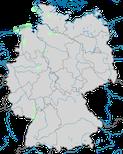 Karte zu den Brutgebieten der Kornweihe (Circus cyaneus) in Deutschland
