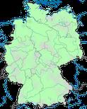 Karte zur Verbreitung der Kornweihe (Circus cyaneus) in Deutschland im Jahresverlauf