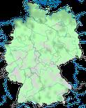 Karte zur Verbreitung des Brachvogels (Numenius arquata) in Deutschland im Jahresverlauf.