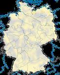 karte zu den Nachweisen des Rotfußfalken (Falco vespertinus) in Deutschland zwischen 2013und 2021.