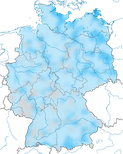 Karte zur Verbreitung des Schellente im Winter