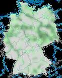 Karte zur Verbreitung der Steppenmöwe (Larus cachinnans) in Deutschland im Jahresverlauf.