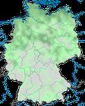 Karte zur Verbreitung der Silbermöwe (Larus argentatus) in Deutschland im Jahresverlauf.