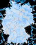 Karte zur Verbreitung der Tafelente (Aythya ferina) in Deutschland während des Winterhalbjahrs.
