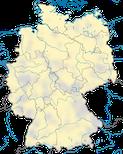 Karte zur Verbreitung der Wiesenweihe (Circus pygargus) in Deutschland.