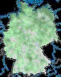 Karte zur Verbreitung des Goldregenpfeifers (Pluvialis apricaria) in Deutschland im Jahresverlauf