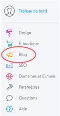 Créer un blog avec Jimdo