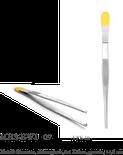 Metall-Pinzette, chirurgisch, 2:1 Zähne, gerade, 14,5 cm