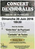 LMC France concert chorale Puyricard patient proche leucemie myeloide chronique