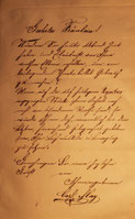 Brief an Marie Vogel, Chemnitz, Januar 1875
