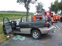 Verkehrsunfall bei Bockhorst. Kreisstrße zwischen Sauensiek und Ramshausen