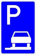 Parken ganz auf Gehwegen bzw. in markierten Flächen