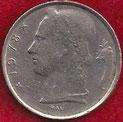 MONEDA BÉLGICA - KM 135.1 - 5 FRANCOS BELGAS (BELGIE) 1.978 - COBRE - NíQUEL (MBC-/VF-) 0,80€.