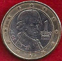 MONEDA AUSTRIA - KM 3142 - 1 EURO - 2.008 - CUPRONÍQUEL - LATÓN - BIMETÁLICA (MBC-/VF-) 2€.