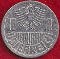MONEDA AUSTRIA - KM 2878 - 10 GROSCHEN - 1.984 - ALUMINIO (EBC-/XF-) 0,60€.