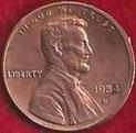 MONEDA ESTADOS UNIDOS - KM 201b - 1 CÉNTAVO DE DÓLAR USA - 1.984 (D) COBRE (SC-/UNC-) 0,60€.