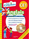 """Un livre avec CD intitulé """"Pour Comprendre l'Anglais"""" CE1 de Joanna Le May, publiée par Hachette."""