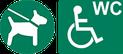 WC, Toilette für Rollstuhl-Fahrer