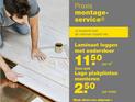 Prijzen Praxis Montageservice laminaat, ondervloer en plinten + toebehoren - 2017