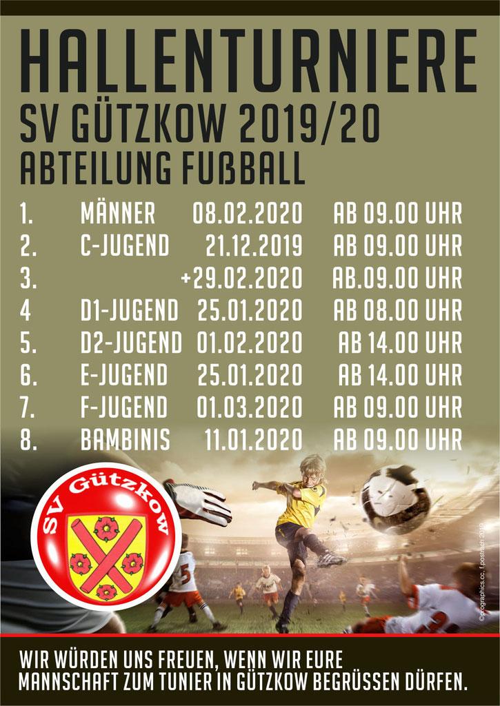 Unsere Hallenturniere für die Saison 2019 /20