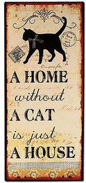 Blechschild Katze