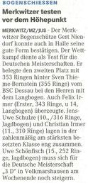Artikel - DM/ DBSV Jugendklassen in Heiligenstadt - BSV Merkwitz