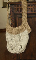 Bolso o cartera tejida en dos agujas con lana gruesa!