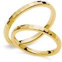Fedi Nuziali Gioielli Comete in oro giallo 18 carati Ettore e Andromeda - Istanti di Gioia