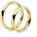 Fede Nuziale  in oro giallo con Angelica e Orlando - prezzi sconti outlet - istanti di gioia